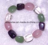 Pedra preciosa semipreciosa cristal de ágata frisada Pulseira Jóias