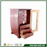 Roter Ende-Zigarre-Luftfeuchtigkeitsregler-Schrank mit sicherem Verschluss