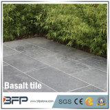 / Pulido pulido de piedras de basalto Negro basalto baldosas para suelos de jardín