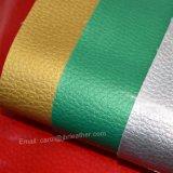 Кожа PU патента зерна Litchi, обувная кожа, декоративная кожа
