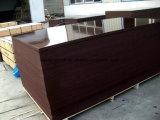 la película de 18m m Brown hizo frente a la madera contrachapada para la construcción
