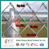 Hot Dipped Cheap Galvanized Chain Link Fence with Round Post