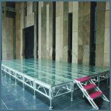 2018 Commerce de gros stade de verre aluminium/stade portable pour les podiums de cas