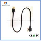 USB 2.0 B 유형 남성 90 도 USB 인쇄 기계 케이블