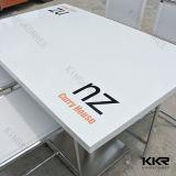 最上質のカスタムロゴの正方形の人工的な大理石のダイニングテーブル(T171010)