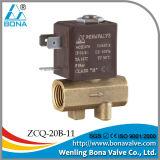 утечка 220VAC обнаруживает клапан соленоида машины латунный (ZCQ-20B-11)