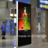 La señalización video del LCD androide de la batería/del aeropuerto Quiosco-Visualiza el indicador digital de la pantalla comercial del quiosco