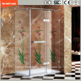 3-19mmのシルクスクリーンプリントか酸の腐食かかパターンSafetytemperedかホームのための強くされたガラス、ホテルの浴室またはシャワーまたはスクリーンSGCC/Ce&CCC&ISOの証明書と曇らされて