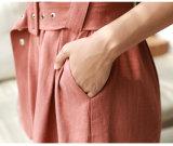 Großhandels-Kleidungs-Frauen-Blumendruck-Rüsche-Maxi langer Kleid-Schrägstrich-Stutzen-einteiliges Kleid