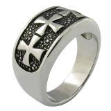 Горячая продажа креста украшения Wholsale стальное кольцо