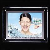 Cristal RGB de la muestra al aire libre que hace publicidad del rectángulo ligero del LED