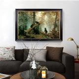 Hermoso bosque da escena Óleo sobre lienzo nuevo diseño