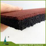 伸縮性がある体操の適性の中国の工場からの商業ゴム製床タイル
