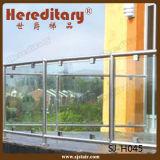 La escalera del acero inoxidable parte el sistema/el pasamano de cristal (SJ-H052) de la barandilla