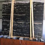 白い静脈の銀製のドラゴンの大理石が付いている供給の高品質の黒の大理石のタイル