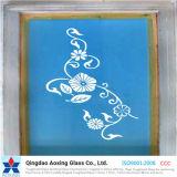パターンが付いているシルクスクリーンによって印刷されるガラス