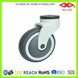Giratoria de bloqueo todo el plástico de las ruedas giratorias (P503-39E125X32CS)