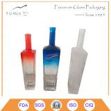 Frascos de vidro cristal com decoração para a vodka, gin