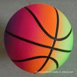 Jouets en PVC Impression couleur gonflable Rainbow Basketball