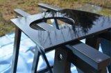 De color negro de seda Serigrafiada vidrio templado para la cocina de gas