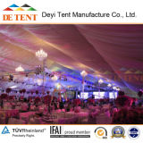 Tente de mariage de Deyi en 2017 avec doublure et décoration de lumières