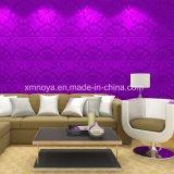 Acoustique étanche résistant au feu violet Panneau mural 3D pour la salle de séjour