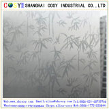 1.22 * 50m PVC Glass Decorative Static Cling Window Film / Self Adhesive Window Film with Sticker