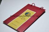 Bolsa de papel/bolsa/caja de regalo y bolsa/bolsa de papel Kraft con asa en super calidad