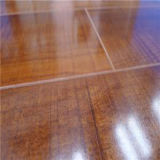 HDF AC4の光沢度の高いワックスを掛けられた積層の薄板にされた木製のフロアーリング