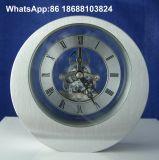 Skeleton Dial Roman Round Metal Mantel Clock