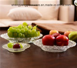 100% nessun articoli per la tavola trasparenti rotondi della lastra di vetro della radura del piatto della frutta 3PCS del cavo