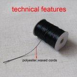 1mmの黒いワックスを掛けられた綿のコードのワックスポリエステルコードのFoorのネックレスのコード