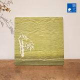 Dîner de la vaisselle Ware Surface mate vert bambou coffre en plastique durable de la mélamine plaque carrée 11 pouces