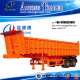 차축 3개 50 톤 옆 반 덤프 팁 주는 사람 트럭 트레일러 (LAT9404D)