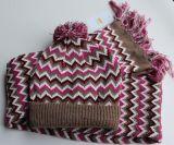 Установленные крышка и шарф зимы теплая связанные (KS-2118)