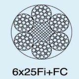 직류 전기를 통한 철강선 밧줄 6X25fi+ Iwrc/FC/Iws