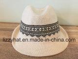 Chapéu feito malha jacquard do chapéu mole do algodão das mulheres/homens