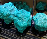 Semi Precious adorno de visualización de piedra azul turquesa