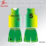 Healong guter Entwurf mit Basketball 100% der Qualitäts-Kleid-Polyester-Männer Jersey