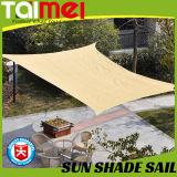 Voile beige d'ombre de Sun de couleur de jardin pour le stationnement de véhicule