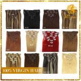 Clip di capelli brasiliana del Virgin di Remy in clip di estensioni 120g in clip nera del 1b di estensioni brasiliane dei capelli nelle estensioni 200g dei capelli umani