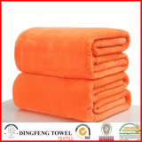 Couverture de couleur solide Super Soft Coral en molleton Df-9935