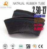 Câmara de ar de borracha natural de grande resistência original 2.50-17 de câmara de ar interna da motocicleta