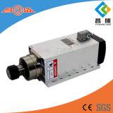 motore ad alta frequenza dell'asse di rotazione raffreddato aria 6kw con la flangia per la macchina per incidere di falegnameria di CNC