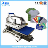 Swinger giratório de 360 ​​° com gaveta Clamshell Heat Press Machine Swing T-Shirt Printing Machine