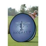 2017 Hot Sale Dye-Sub événement extérieur d'impression hors d'exposition de la publicité pop up une trame bannière graphique avec le jeu de golf de promotion des sports jour signe d'affichage Stand