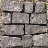 Placages en pierre desserrés d'ardoise noire normale de la Chine (SMC-FS039)