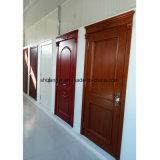 Dernier type de porte HDF moulé en bois peint Porte en bois simple