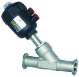 Aço inoxidável sanitárias do ângulo de aperto da válvula do assento