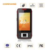 Terminal Handheld móvel com varredor do código de barras e leitor de impressão digital